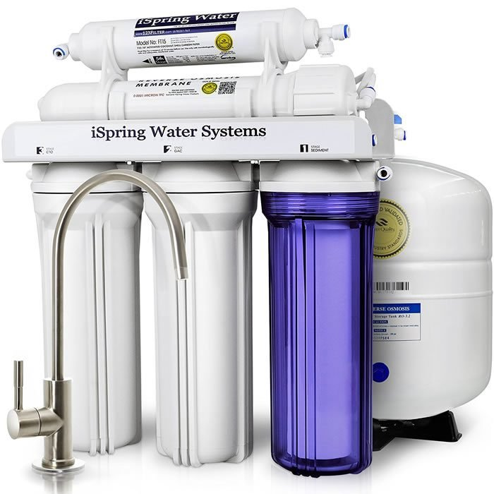 iSpring RCC7 5-Stage Under-Sink Reverse Osmosis Water Filter System