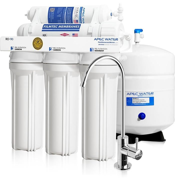 APEC Ultimate RO-90 Reverse Osmosis Drinking Water Filter System