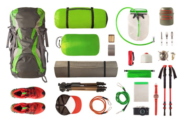 portable water purifier and camping gear