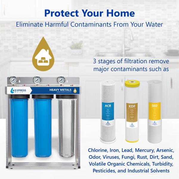 Heavy Metal Whole House Water Filter Protects Your Home